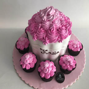 Tort dekoracja nowoczesna
